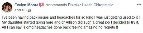 Chiropractic Virgina Beach VA FB Testimonial